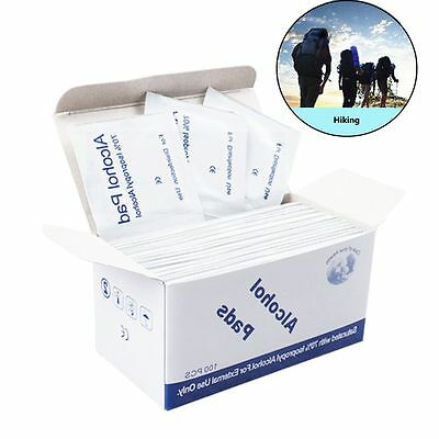 100pcs Safety Disinfection Tablet Antibacterial Tool Cleanser Alcohol Wipe Pad