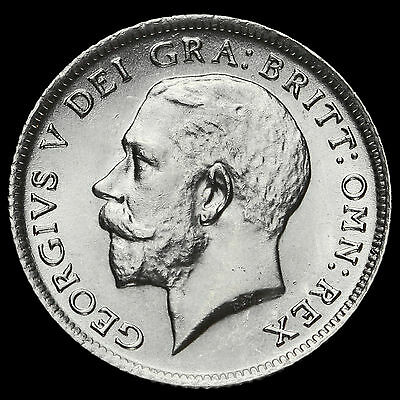 1914 George V Silver Sixpence, A/UNC