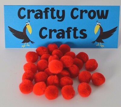 15mm Red POM POMS x 100 pieces