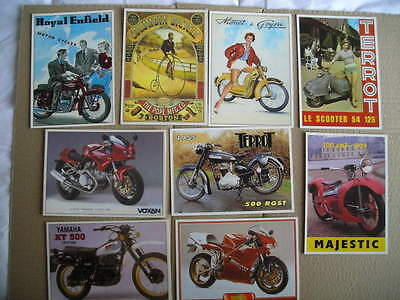 Cycles    Lot De 9 Cartes Postales Neuves