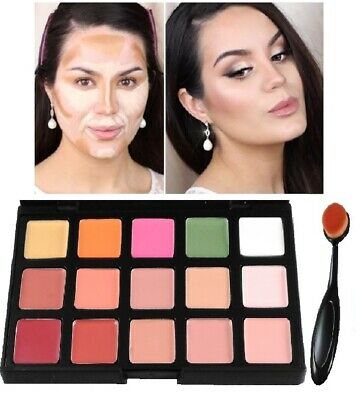 15 colors Concealer foundation palette face contour makeup set cream & brush CL2