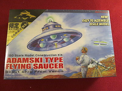 "Adamski Type Flying Saucer "" Scout Ship From Venus "" Model Kit Factory Sealed"