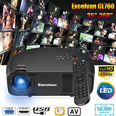 Uhappy Mini Videoproiettore LED 3000 lumen 3D Proiettore Home Cinema Projector
