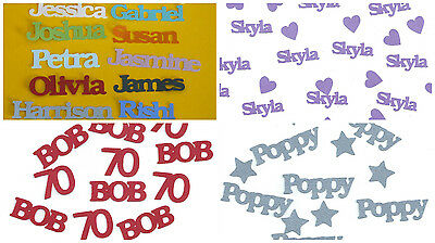 Personalised Table Confetti Any Name 100 Pieces Birthday Party Celebration Pack