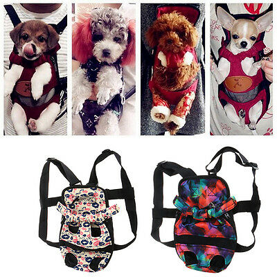 Pet Dog Backpack Carrier Puppy Pouch Dog Front Bag Back Pack Legs Out