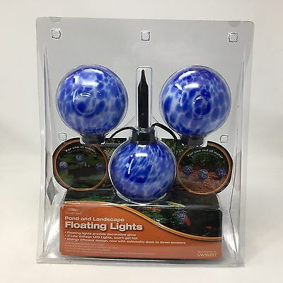 Floating Pond Landscape Blue Decorative LED Lights 3 piece set uw16257