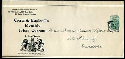 1874 ½ Green CROSSE & BLACKWELL's Advertising Wrapper Very Fine Used