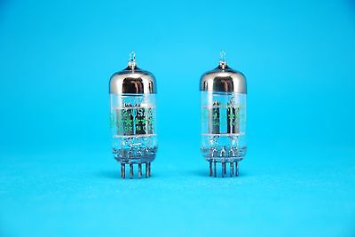 Pair GE 6201 - 12AT7WA - ECC81 NOS Tested Pre-Amp Double Triode Tubes 5 Star