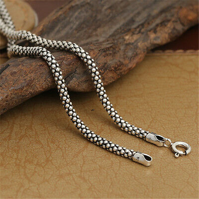 Sterling Silver Popcorn Chain Necklace 3mm 18 20 22 24 26 28 Inches