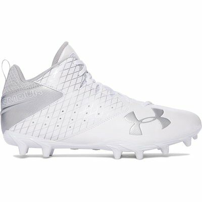 Men's Under Armour Ripshot Mid MC Lacrosse Cleat White