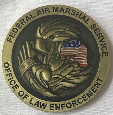 Federal Air Marshall (FAM) DHS/TSA Police Bronze Colored Eagle Challenge Coin