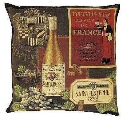 Wine Lover Gift - Wine Decor - Wine Decorative Pillow - Tapestry Throw Pillow