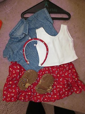 1998 Retired American Girl of Today Play Outfit with headband, shoes and hanger