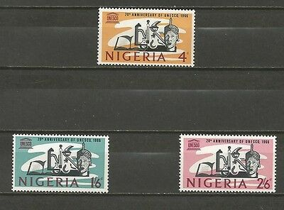 NIGERIA -1966 The 20th Anniversary of UNESCO  - MINT UNHINGED COMPLETE SET.