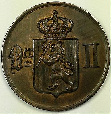 1902 Norway 5 Ore Coin High Grade MUST SEE! (L185)