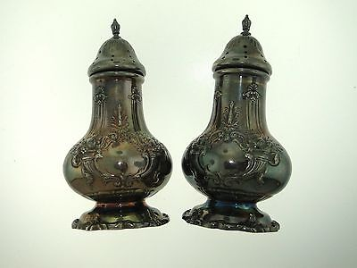 Antique Reed & Barton Francis I Sterling Silver Salt & Pepper Shakers