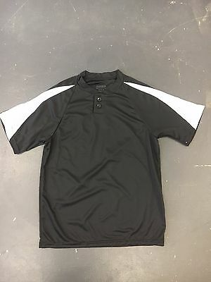 10PK Augusta Sportswear YOUTH Polyester Dri-fit Performance Button Shirt MEDIUM