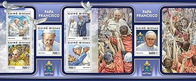 Z08 Imperf GB17305ab GUINEA-BISSAU 2017 Pope Francis MNH ** Postfrisch Set