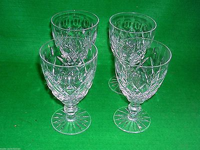 "4 Webb Corbett 4"" Small Wine / Sherry Glasses Lovely Vintage Set"