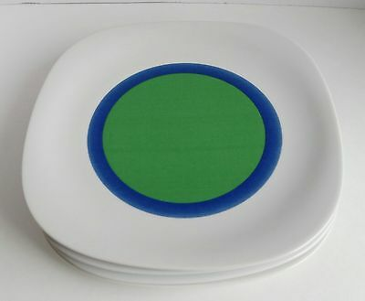 "Block Langenthal Transition ""Centers"" 1969 Set Of 4 Dinner Plates Rare"