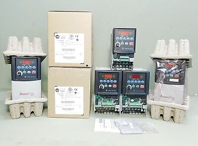 LOT OF 5x PIECES - Allen Bradley PowerFlex VFD Variable Frequency Drives