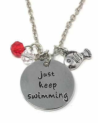 *UK* 925 Silver Plt /'Just Breathe/' ; Semicolon Project Engraved Necklace Gift 18