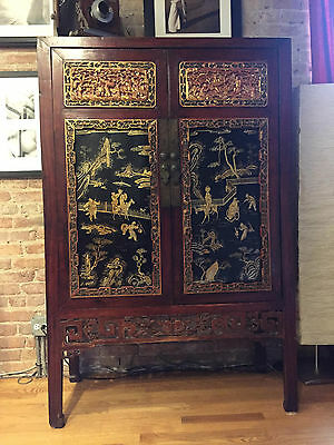 Vintage Antique Chinese Cabinet
