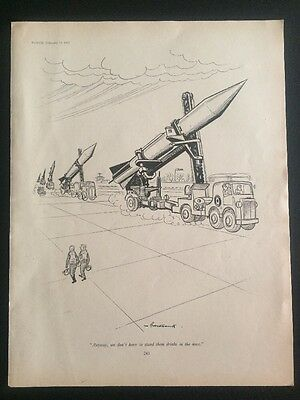 Orig. PUNCH Social Cartoon by Brockbank 1957