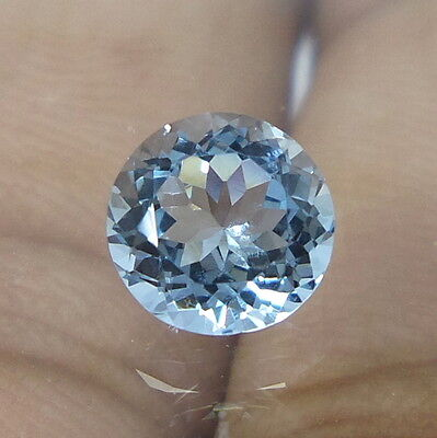 5.5 MM Natural Aquamarine Round Shape TOP QUALITY Cut Stone Excellent Luster
