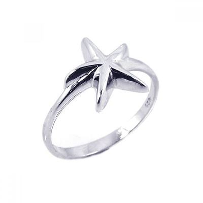 925 Silver Plt Statement Star Starfish Band Ring Thumb Shooting Cocktail C