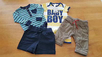 Baby Boy Clothes 4 Piece Bundle Assorted Items Age 6-9m CLEARANCE PRICE