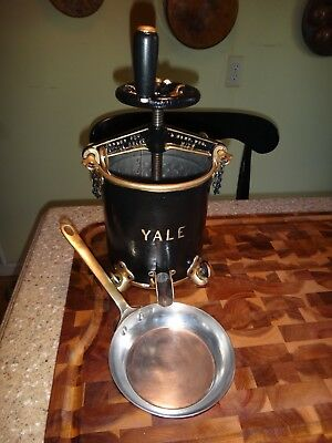 Antique Duck Lobster Press by Yale Lock Tableside Carving Station Mauviel Copper