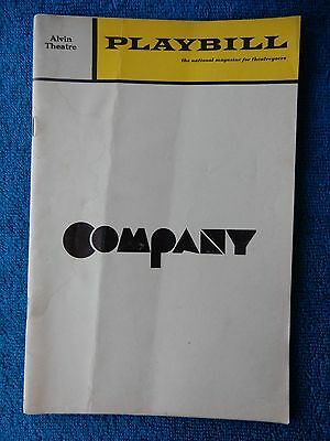 Company - Alvin Theatre Playbill - June 1970 - Dean Jones - Elaine Stritch