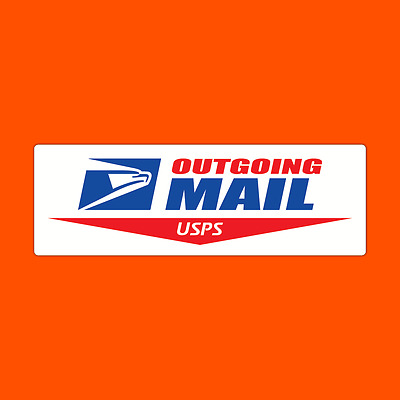 USPS Outgoing Mail Sign Logo Post Office Decal Sticker US Postal Vinyl Label