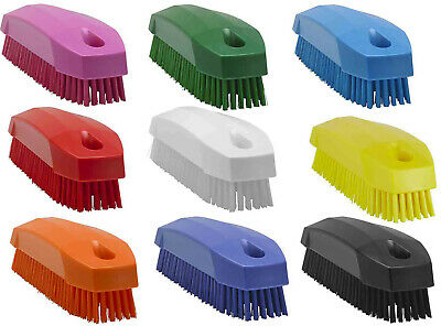 Vikan 6440 Stiff Nail Brush Scrubbing Upholstery Fabric Carpets Bathroom Kitchen
