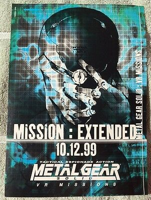 Metal Gear Solid VR Missions Poster Ad Print Playstation