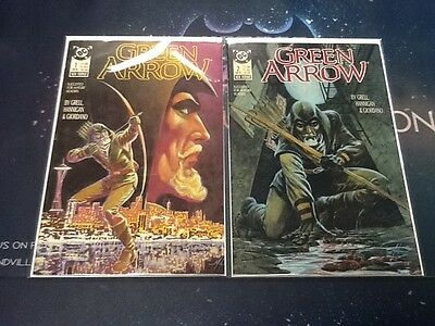 Green Arrow-#1-13 And Annual comic book 1988-mike grell-1st issue NM (CBR363)
