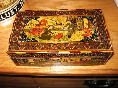 Antique Vintage Persian Iran Hand Painted Trinket Box
