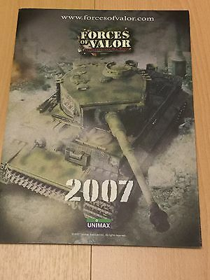 Forces Of Valor Catalogue 2007 Excellent Condition