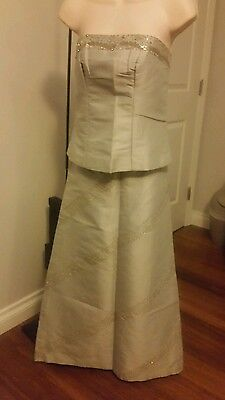 Khmer Traditional Phamoung Fabric Dress Gray Size Small Party Wedding
