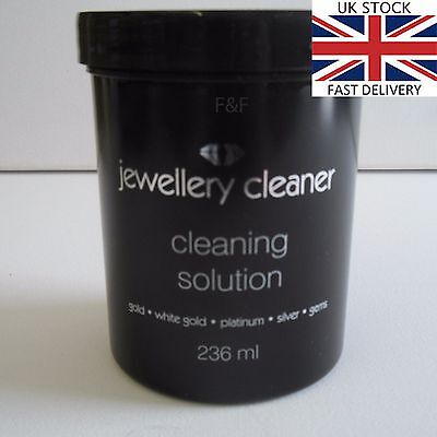 Black Jewellery Cleaner Cleaning Solution for Gold, White Gold, Silver, Platinum