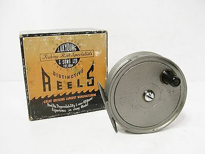 "Vintage Boxed JW Young 3 ¼"" Condex Fly Fishing Reel"
