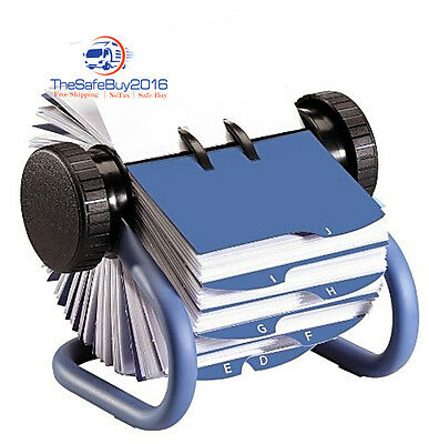 Rolodex Open Rotary Business Card File 200 2-5/8 X 4 inch Card Sleeves 24 Guides