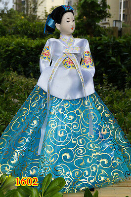 40cm/15.74'' Ancient Korea Hanbok Figurine Beauty Exquisite Asian Doll-1601