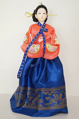 40cm/15.74'' Tradtional Korea Hanbok Lady Asian Doll Collectible -1605