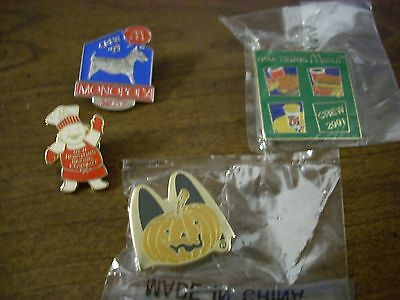 Lot Of 13 Mcdonalds Hat Pins With Backs