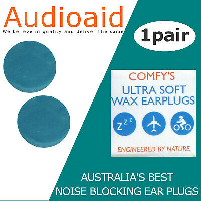 Ear plugs for Sleeping, Snoring, Motorcycle Riders - Australian Made (re-usable)