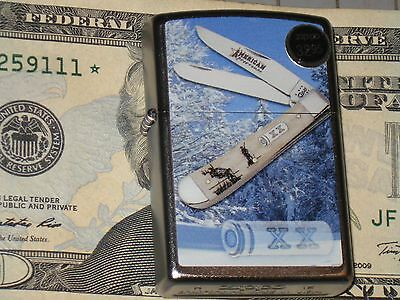 Case American Sportsman Whitetail NEW Genuine ZIPPO Lighter Windproof Knives USA