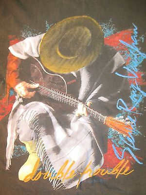 Stevie Ray Vaughan & Double Trouble Original 1989 In Step Tour T-Shirt Size XL