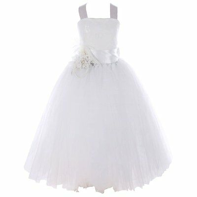 Flower Girl Dress Lace Princess Formal Pageant Wedding Bridesmaid Party For Kids